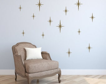 Sparkle Wall Decals, Star Burst Wall Decals, Star Wall Decals, Sparkle Stars, Childrens Wall Decals, Girls Bedroom, Nursery Wall Decals