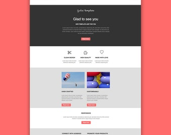 Mailchimp HTML Template Email Newsletter Clean Design - Mailchimp newsletter templates