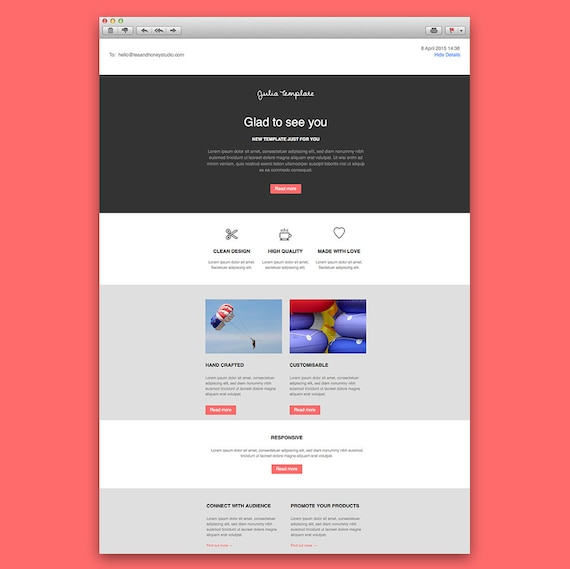 Email Newsletter Template Responsive Html Email Newsletter