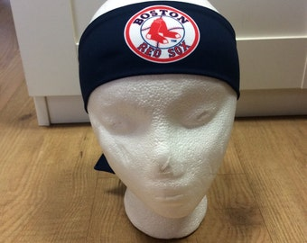 Red Sox Boston Navy blue Headband great for yoga and workouts