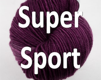 Super Sport Yarn 100% Superwash Merino in your choice of colors