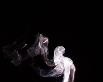 "Smoke Abstract Photography Print Fine Art Decor ""Phantom"""