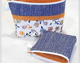 Becca Bags Pattern by Joan Hawley for Lazy Girl Designs - Use for Makeup or Cosmetics or other Treasures!