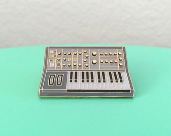 Synth Keyboard Enamel Pin