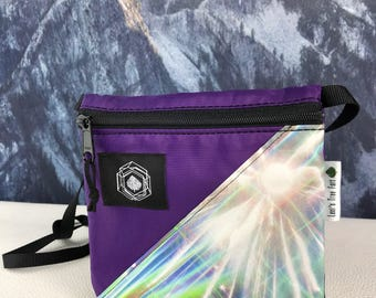 Small Purple Purse with Custom Holographic Print