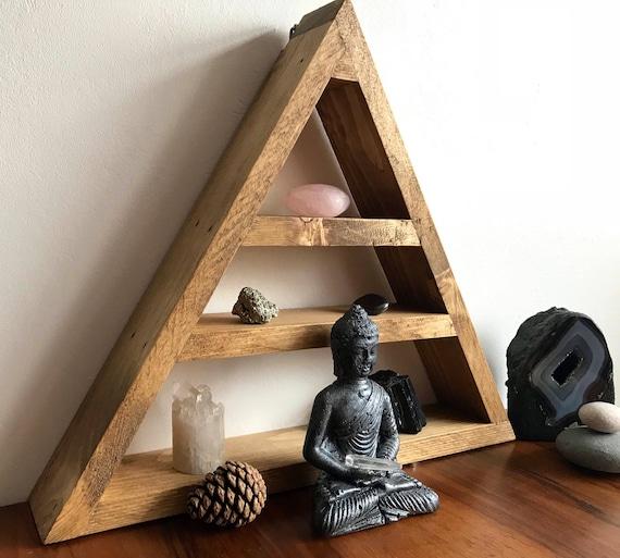 Superb Triangle Altar Triangle Shelf Crystal Storage Crystal