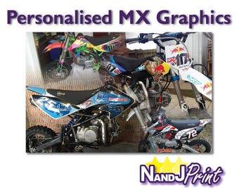 MX Motocross Bike Graphics Fully Personalised - TTR CRF etc.