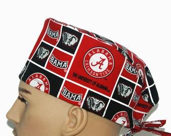 Alabama Scrub Cap, University Scrub Hat, Vet Tech Scrub Hat Scrub Cap, Nurses hat, Nurse's Gift, Scrub hats, scrub caps