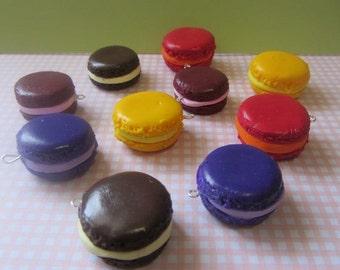 4 x Macaroon handmade charms