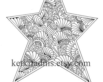 Christmas tree Coloring page Instant PDF Download Digital
