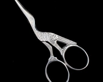 "3.5"" Silver Stork Scissors TLD019"