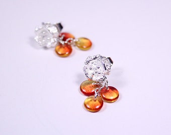 cute studs orange jewelry orange studs everyday jewelry trends red stud earrings small studs bead studs drop studs child earrings gift пя58
