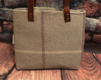 Porter stone Tweed tote leather everyday bag ready to ship grab and go tote