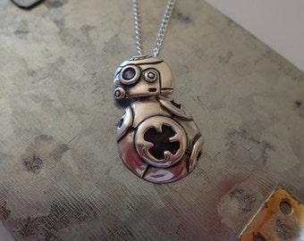BB-8  Silver Charm Necklace (Star Wars: The Force Awakens Inspired)