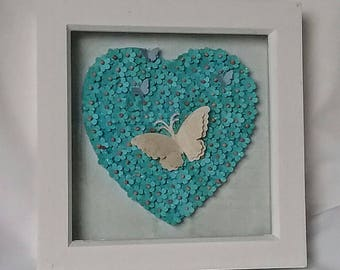 Home decor framed pictures hand made