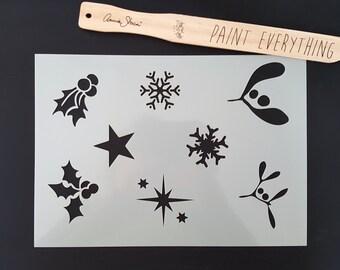 Christmas A4 Reusable Stencil