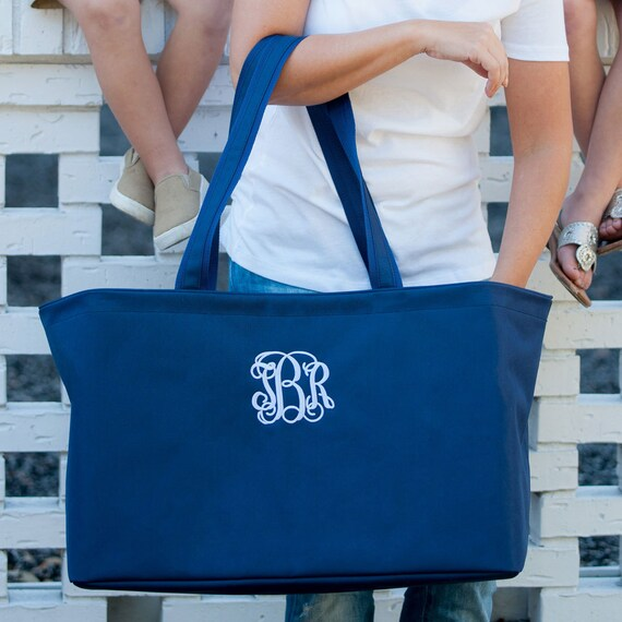 navy blue  Ultimate tote bag navy blue oversized bag monogrammed tote bag beach bag pool bag summer bag monogrammed gift