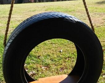 Wood Tree Swings- Classic Tire Swing