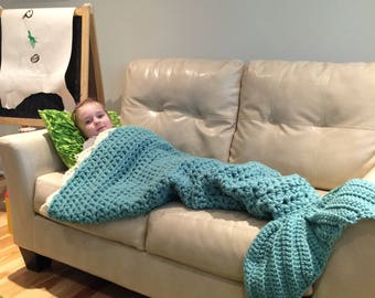 SALE - Mermaid Blanket for Teen or Adult is Ready to Ship Free in US