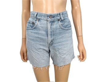 Vintage Levis Denim Cut Off Shorts Size 28 Waist