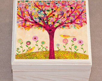 Jewelry Box Tree Jewelry Box Wooden Jewelry Box Handmade