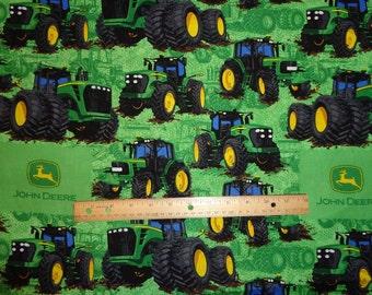 John Deere Green Big Tractors Cotton Fabric by the Yard