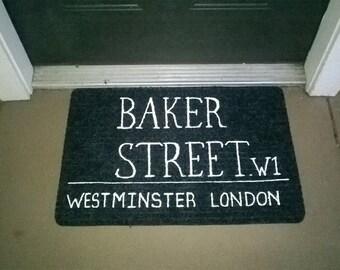 Sherlock Holmes Baker Street Welcome Mat