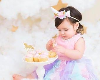 Unicorn First Birthday Outfit - Unicorn 1st Birthday - Unicorn Costume - Rainbow Unicorn Tutu