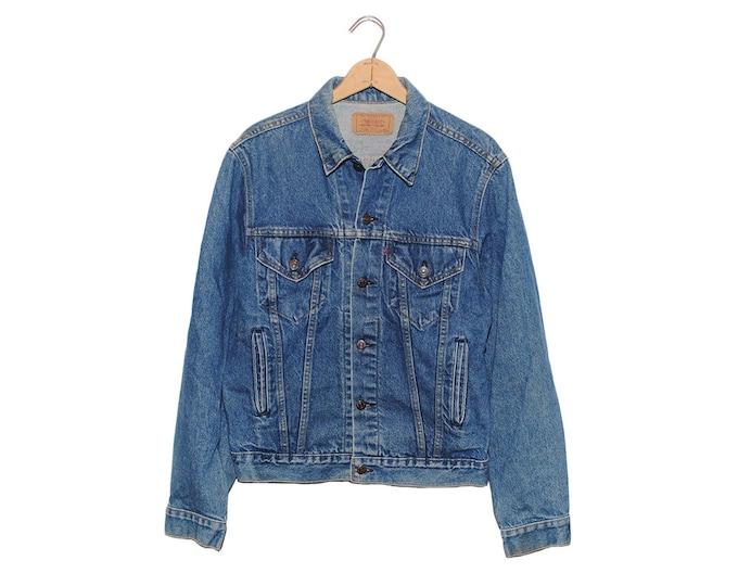 Vintage Levi's Dark Blue Denim Jean Jacket Made in USA - 44 L (OS-DJ-5)