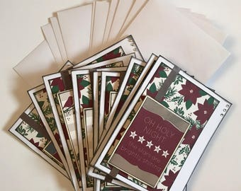 Pointsetta Christmas Phrase Card Pack