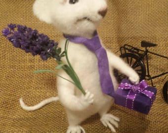 Needle Felted Rat