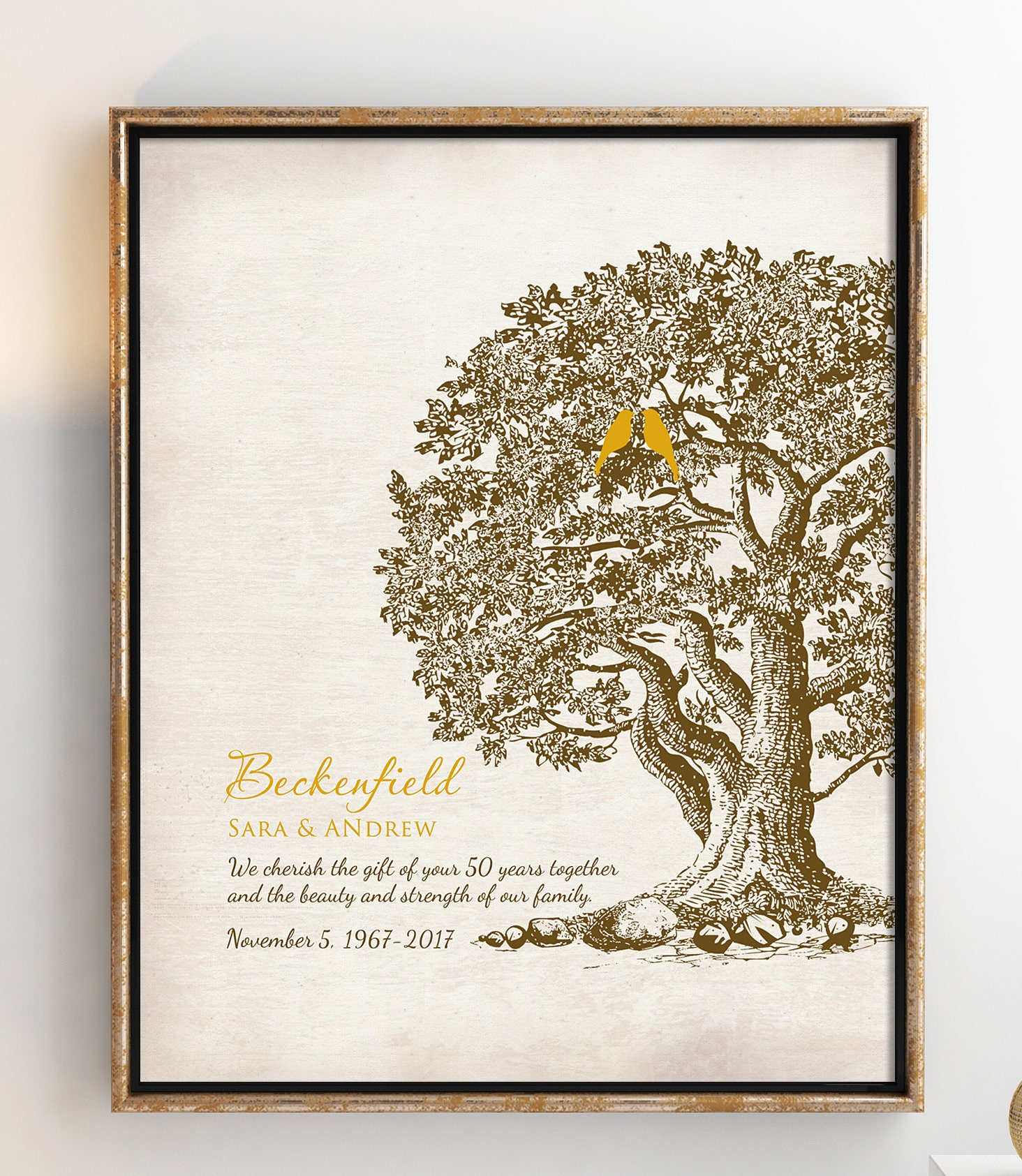 50th Wedding Anniversary Traditional Gift: 50th Wedding Anniversary Tree Gift Anniversary Gift For