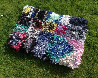 Pretty traditional handmade rag rug