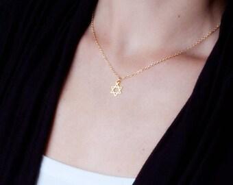 Jewish star necklace etsy aloadofball Images