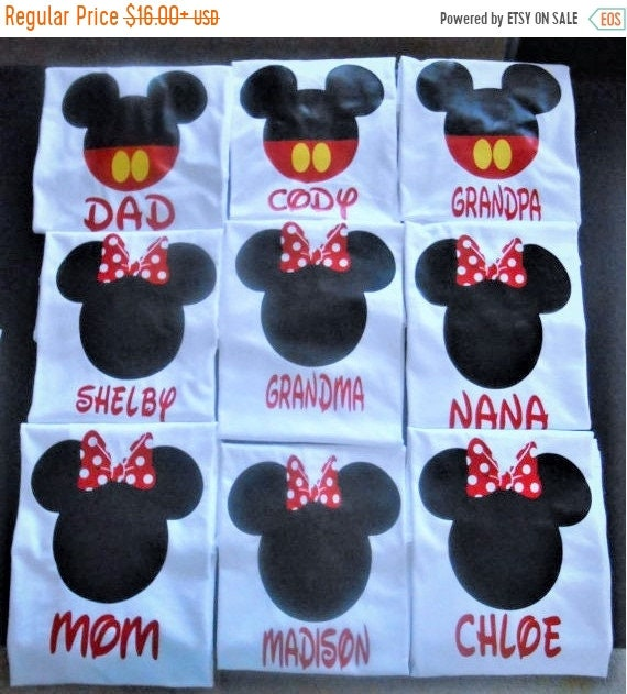 ON SALE Disney Family shirts Custom Disney shirt with name