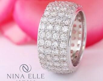 4ct Diamond Eternity Wedding Band B73