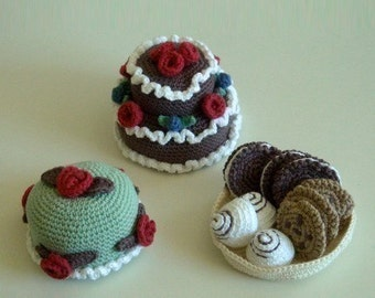 Instant Download - PDF Crochet Pattern- Cakes and Cookies