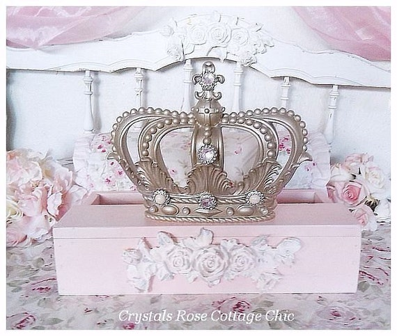 Bed Crown Canopy Crib Crown Nursery Design Wall Decor: Shabby Pink Rose Fleur De Lis Bed Crown Teester Canopy French