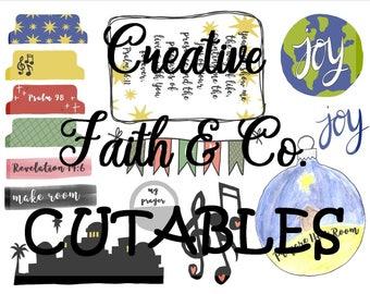 Christmas Bible Journaling Printable Devotion Kit - Prepare Him Room (Creative Faith Cutables)