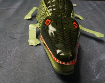 Tin Crocodile Funny Action Inertia Toy