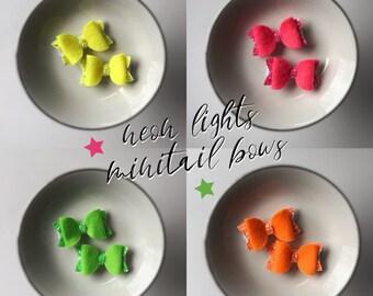 neon lights - minitail bows
