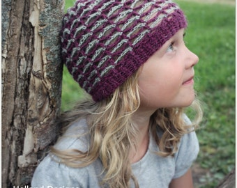 Download Now - CROCHET PATTERN Zig Zag Beanie - Baby to Adult - Pattern PDF