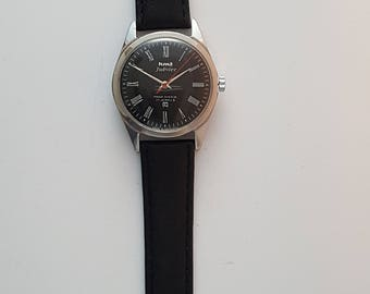 HMT JUBILEE gentlemens watch with black dial and roman numerals-------SERVICED-----