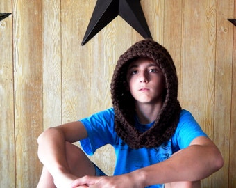 Simple Crochet Hood - Made to Order Child or Adult Inspired by Assassin's Creed Games