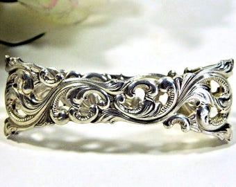 Brodrene Lohne Midcentury Norway Silver Filigree Napkin Ring