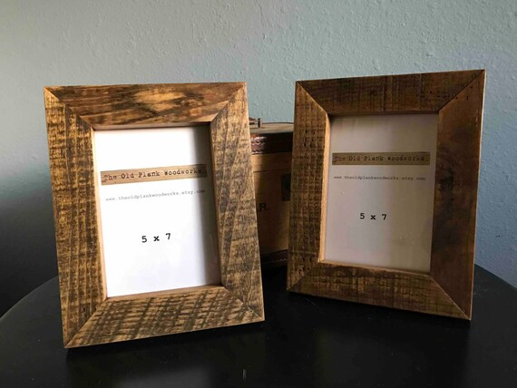 Reclaimed Rustic Oak Frame - Holds 5 x 7 Picture - Made out of ...