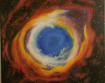 Gods Eye Nebula original oil painting