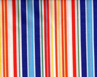 Bright Stripe Cotton Fabric by Springs Multi-Colored Stripes By the Yard #378
