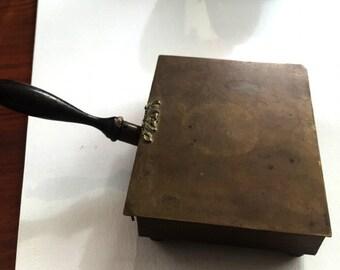 Vintage Brass Flip Top Silent Butler Crumb Catcher