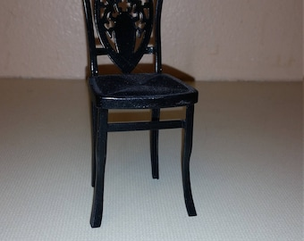 Barbie upcycled black chair